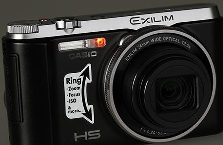 Casio Exilim EX-ZR1000 - pomocné světlo AF