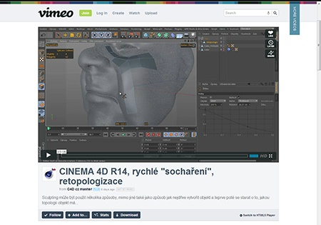CINEMA 4D R14, sculpting (2) - video II