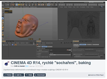 CINEMA 4D R14, sculpting (2) - video III