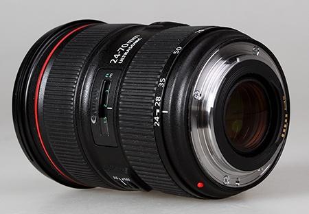 Canon EF 24–70 mm 1:2,8L II USM - přípojný systém s bajonetem