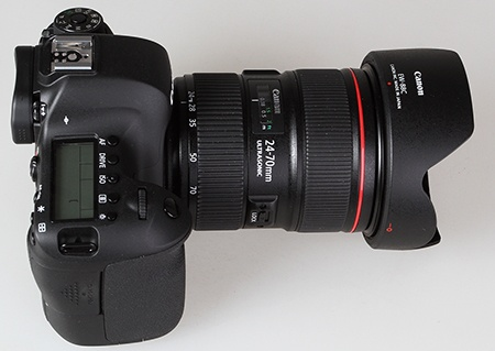 Canon EF 24–70 mm 1:2,8L II USM na EOS 6D