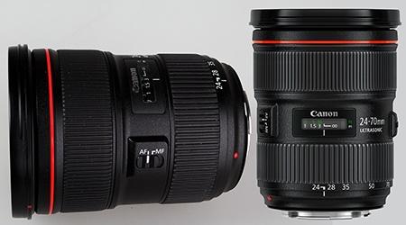 Canon EF 24–70 mm 1:2,8L II USM - ovládací a kontrolní prvky