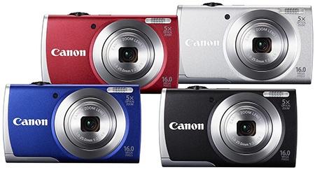 Canon PowerShot A2600 - barvy
