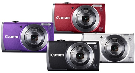 Canon PowerShot A3500 IS - barvy