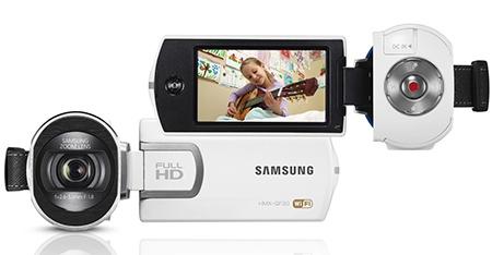 Samsung HMX-QF30 - zepředu a zezadu