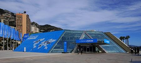 Samsung European Forum 2013 - Grimaldi Forum poblíž monacké Promenády šampionů F1