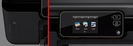 HP Deskjet IA 5525 eAiO: slot pro paměťové karty a ovládací panel