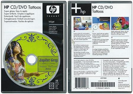 HP Deskjet IA 5525 eAiO: potisknutelné samolepky na CD/DVD