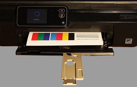 HP Deskjet IA 5525 eAiO: tisk testovací tabulky formátu A4