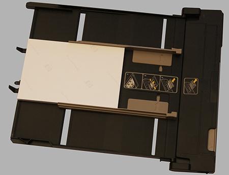 HP Deskjet IA 5525 eAiO: vyjmutý zásobník na potisknutelná média