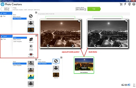 HP Photo Creations - příklady editace snímků