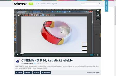 CINEMA 4D R14 - kaustické efekty
