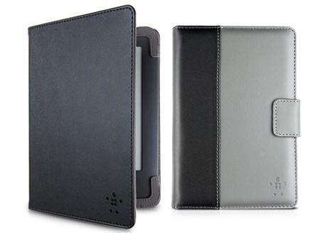 pouzdra Belkin pro čtečky PocketBook: polyuretanové pro Basic a pro Touch Folio koženkové