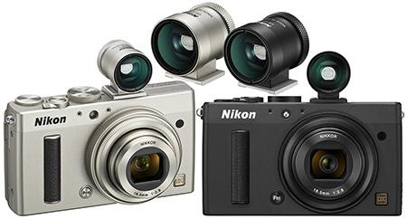 Nikon Coolpix A - externí průhledový hledáček