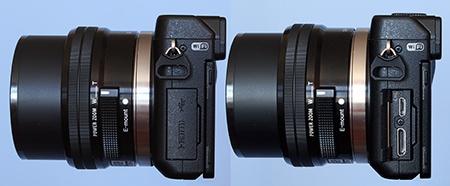 Sony Alfa NEX-6 - konektory