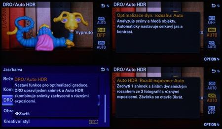 Sony Alfa NEX-6 - DRO a Auto HDR
