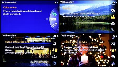 Sony Alfa NEX-6 - scénické programy