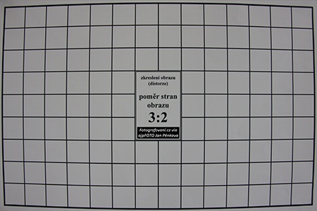 Sigma 17–50 mm 1:2,8 EX DC OS HSM - zkreslení obrazu