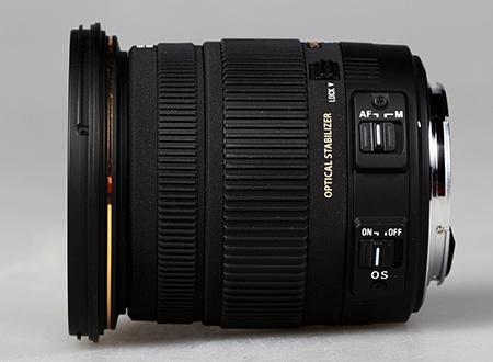 Sigma 17–50 mm 1:2,8 EX DC OS HSM - ovládací prvky