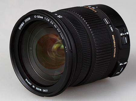 Sigma 17–50 mm 1:2,8 EX DC OS HSM - přední pupila