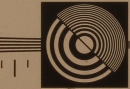 zkušební tabulka: 17 mm - clona 22