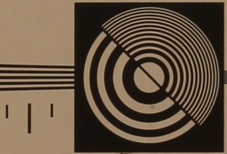 zkušební tabulka: 50 mm - clona 11