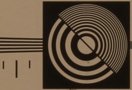 zkušební tabulka: 50 mm - clona 16