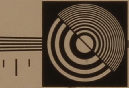 zkušební tabulka: 50 mm - clona 22