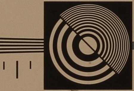 zkušební tabulka: 50 mm - clona 5,6