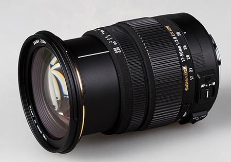 Sigma 17–50 mm 1:2,8 EX DC OS HSM - vysunutý zoom