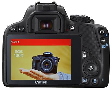 Canon EOS 100D - zadní stěna - displej