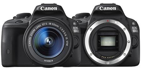 Canon EOS 100D - zepředu - bajonet