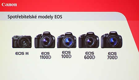 Canon EOS 100D - zařazení uprostřed spotřebitelským modelů