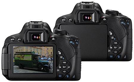 Canon EOS 700D zezadu