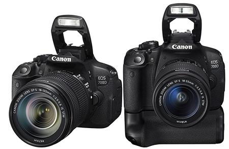 Canon EOS 700D integrovaný výklopný blesk