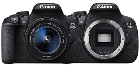 Canon EOS 700D - zepředu - bajonet
