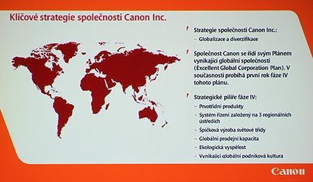 Canon tiskovka 03/13, Kaiserštejnský palác, Praha: klíčové strategie Canon Inc.