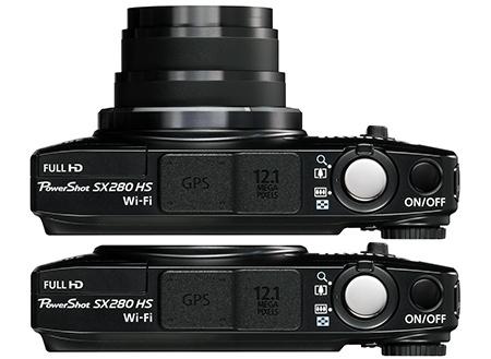 Canon PowerShot SX280 HS shora