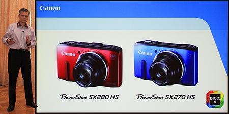 Canon PowerShot SX280 HS a SX270 HS s procesorem DIGIC 6