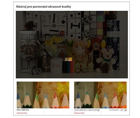 nástroj na porovnání obrazové kvality