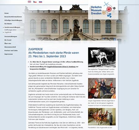 Tažní koně v Dopravním muzeu v Drážďanech