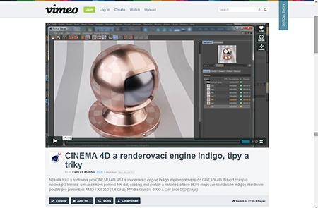 CINEMA 4D a Cindigo – některé tipy, které by se mohly hodit