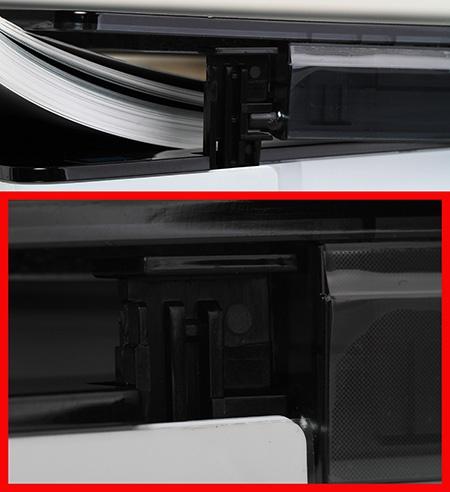 skenování knihy - detail konzole víka