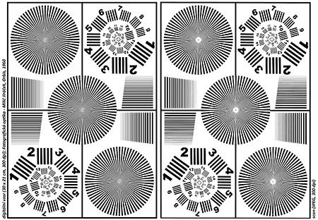 testovací tabulka - hvězda Nutting-Jewell a kruh elementů