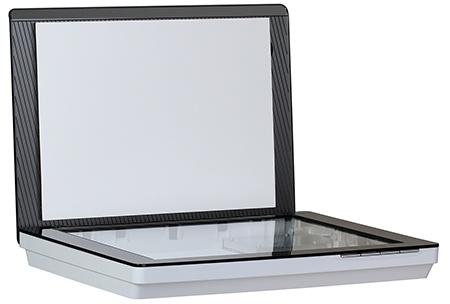 HP Scanjet 300: celek - odklopené víko