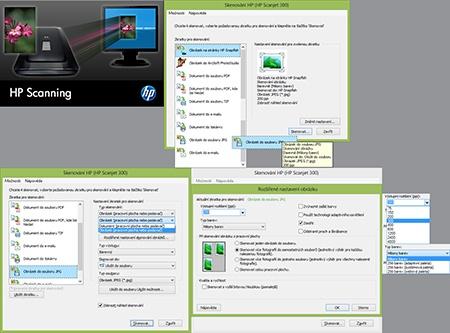 skenovací aplikace HP - I