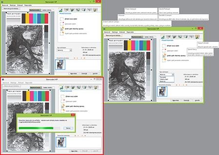 skenovací aplikace HP - III