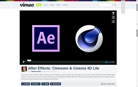 After Effects: Cineware & Cinema 4D Lite