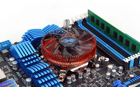 Zalman CNPS2X pro mini-ITX na desce