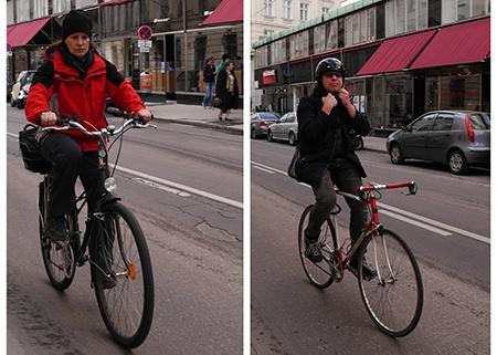 cyklisté ve městě